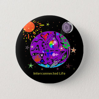 Interconnected Life 2¼ Inch Round Button