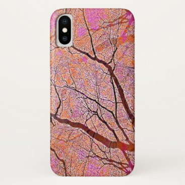 Interconnected Paths (coral-pink) iPhone XS Case
