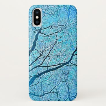 Interconnected Paths (ice blue) iPhone XS Case