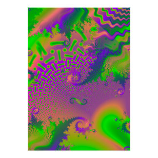 Interconnected Psychedelic Fractal Poster