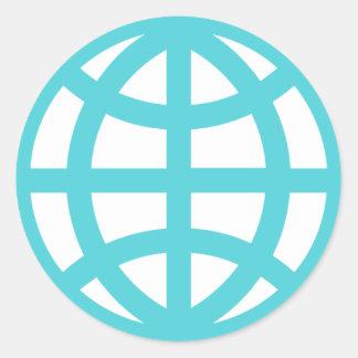 Interconnection Web Globe Classic Round Sticker
