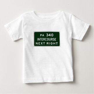Intercourse, Road Marker, Pennsylvania, USA Baby T-Shirt
