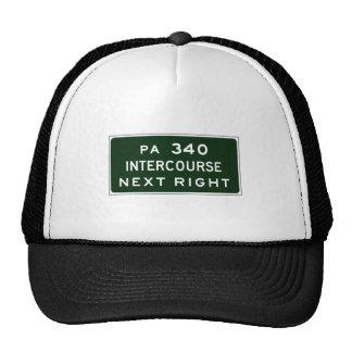 Intercourse, Road Marker, Pennsylvania, USA Mesh Hats