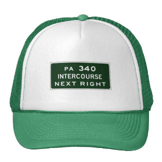 Intercourse, Road Marker, Pennsylvania, USA Trucker Hats