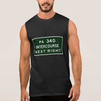 Intercourse, Road Marker, Pennsylvania, USA Sleeveless Shirt