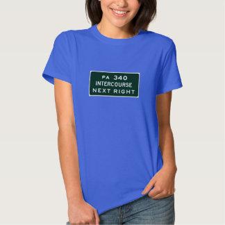 Intercourse, Road Marker, Pennsylvania, USA T-shirt