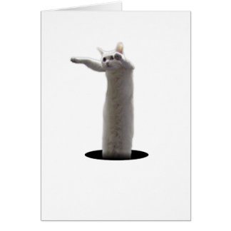 interdimensional LongCat Greeting Card