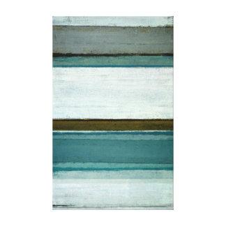 'Interest' Teal Abstract Art Canvas Print