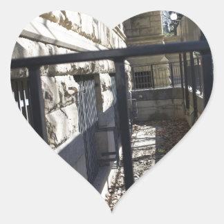 Interesting alley way, downtown San Jose, CA Heart Sticker
