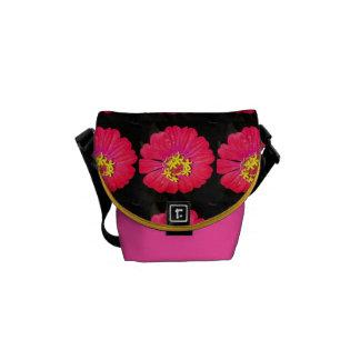 Interesting Brightly Colored Flower Messenger Bag