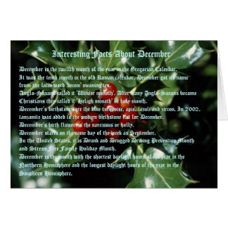 Interesting Facts About December Card