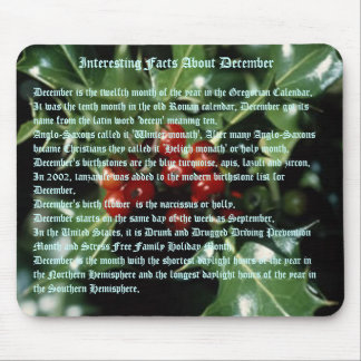 Interesting Facts About December Mouse Pad