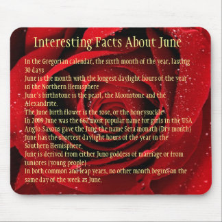 Interesting facts about June Mouse Pad