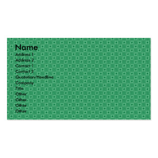 Interesting Flowers created by corners of wavy lig Business Card Template