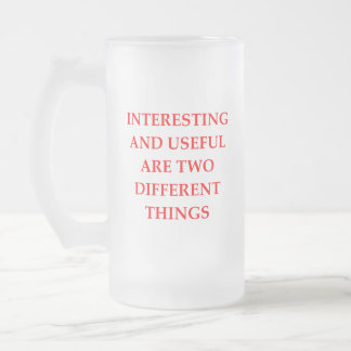 INTERESTING FROSTED GLASS BEER MUG