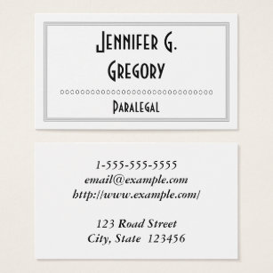Oval shaped business cards templates zazzle interesting professional paralegal business card colourmoves Images