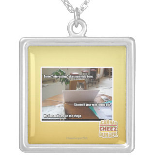 Interesting sites silver plated necklace