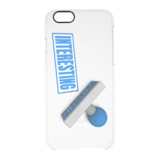Interesting Stamp or Chop on Paper Concept Clear iPhone 6/6S Case