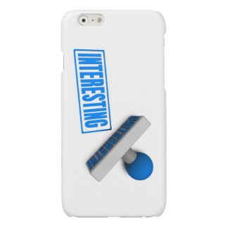 Interesting Stamp or Chop on Paper Concept Glossy iPhone 6 Case