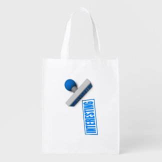 Interesting Stamp or Chop on Paper Concept Reusable Grocery Bags