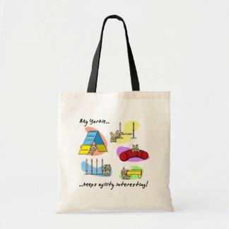 Interesting Yorkie Agility Canvas Bag