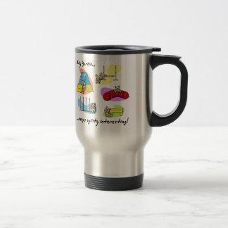 Interesting Yorkie Agility Travel Mug