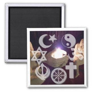 Interfaith, Coexist Fire Magnet