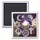 Interfaith, Coexist Fire Magnet Magneet