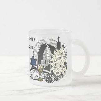 Interfaith Easter and Passover Frosted Glass Coffee Mug
