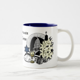 Interfaith Easter and Passover Two-Tone Coffee Mug