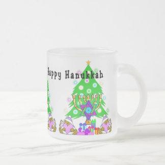 Interfaith Holiday Fun Frosted Glass Coffee Mug
