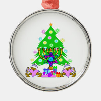 Interfaith Holiday Fun Metal Ornament