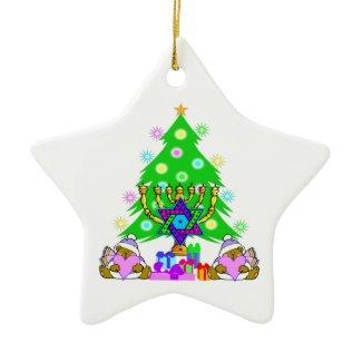 Interfaith Holiday Fun Hanukkah and Christmas Ornament