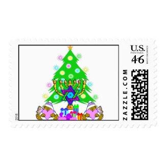 Interfaith Holiday Fun stamp For Christmas and Hanukkah