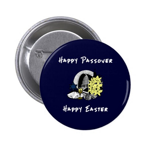 Interfaith Passover and Easter 2 Inch Round Button