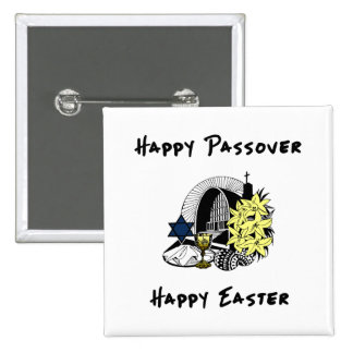 Interfaith Passover and Easter Buttons