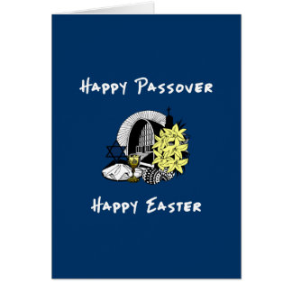 Interfaith Passover and Easter Card