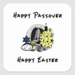 Interfaith Passover and Easter Square Stickers