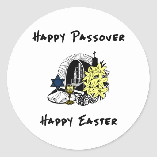 Interfaith Passover and Easter Sticker