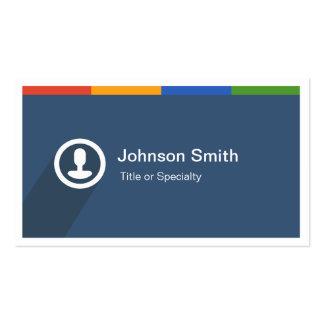 Interfaz de usuario plana del metro colorido - tarjetas de visita