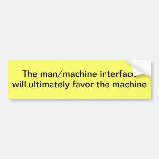 Interfaz del hombre/de la máquina etiqueta de parachoque