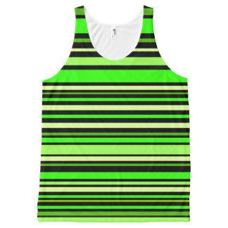 Interference (lime) All-Over-Print tank top