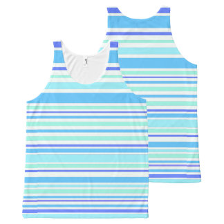 Interference (ocean) All-Over-Print tank top
