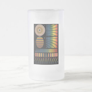 Interference Patterns Frosted Glass Beer Mug