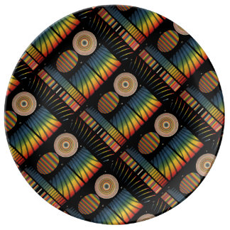 Interference Patterns Porcelain Plates