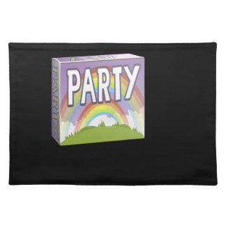 Interferencia: arco iris del doble del paquete del mantel