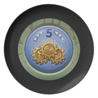 Interferencia: colector del escudo del novato del plato