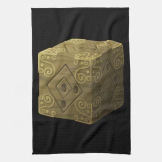 Interferencia: cubo misterioso del artefacto toalla de mano