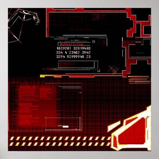 Interferencia de Techno Posters