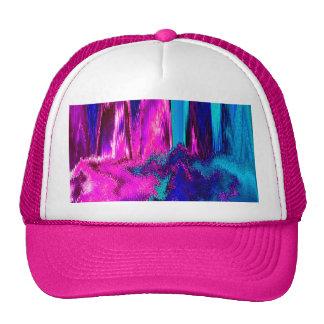 Interferencia derretida (rosa y trullo) gorras de camionero